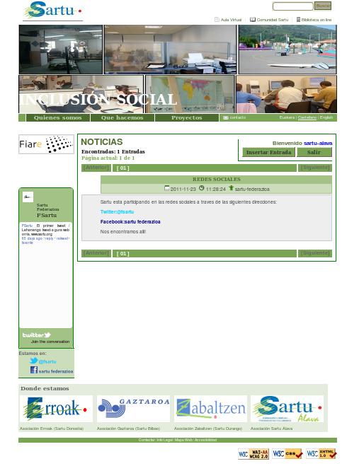 Sartu Federazioaren webgunea