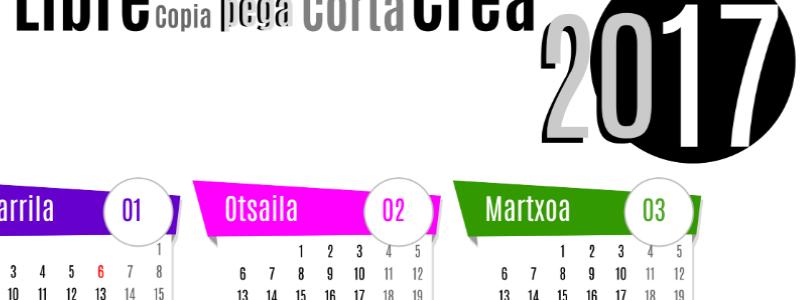 Calendarios para comenzar el nuevo año! Urte Berri On!